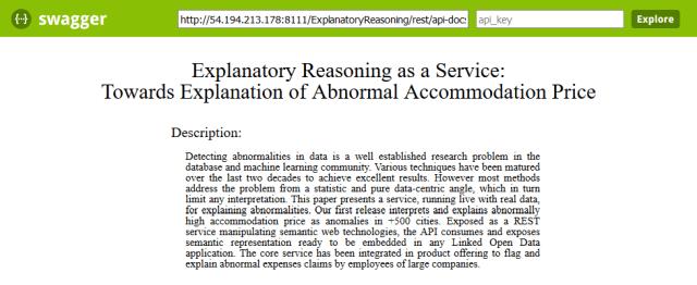 Explanatory Reasoning Service API