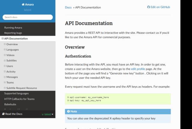 Amara API