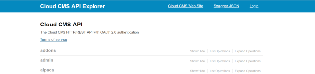 Cloud Cms API