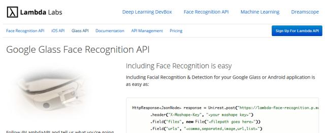 Lambdalabs Face API