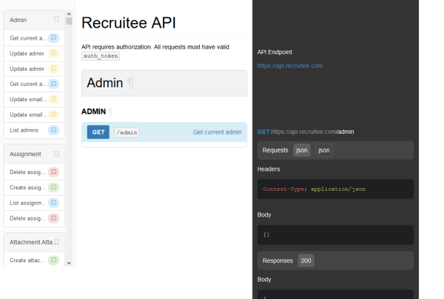 Recruitee Private API