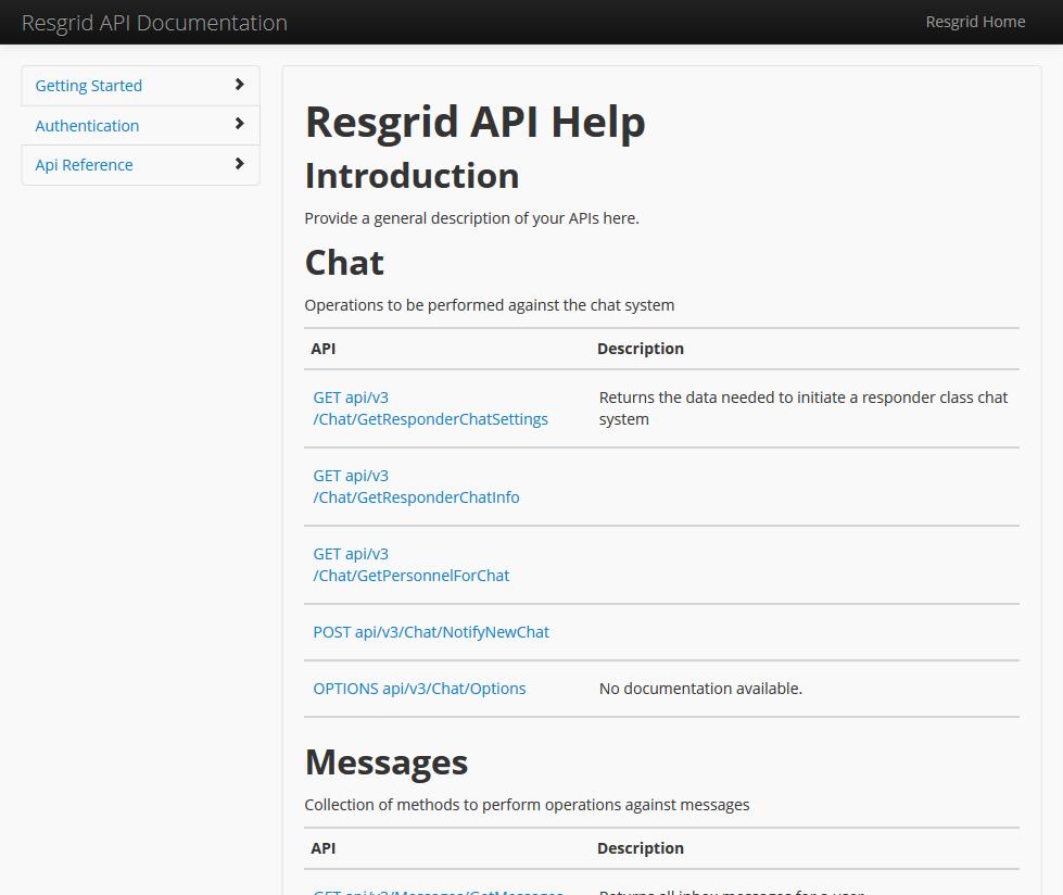 Resgrid API