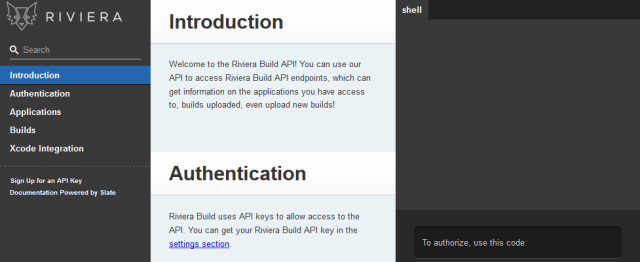 Riviera Build API