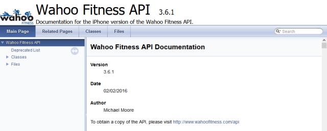 Wahoo Fitness API