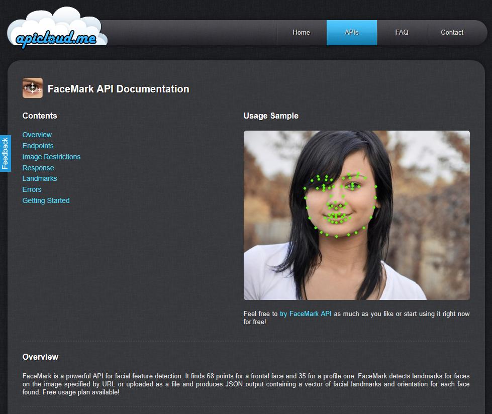 APICloud.Me FaceMark API