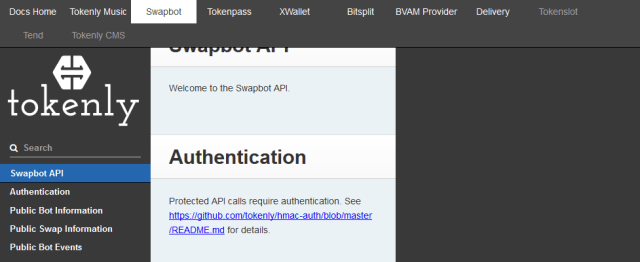 Tokenly Swapbot API