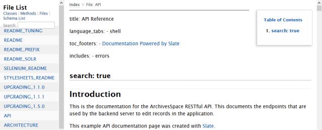 Archivesspace API