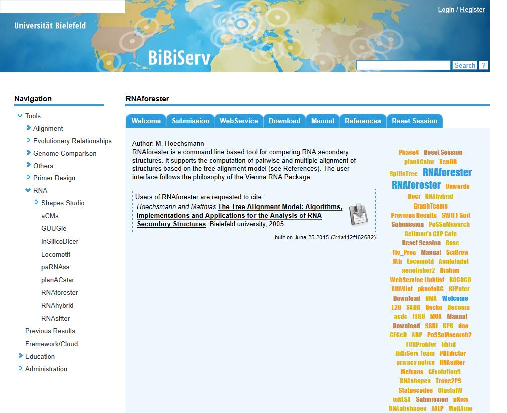 RNAforester API