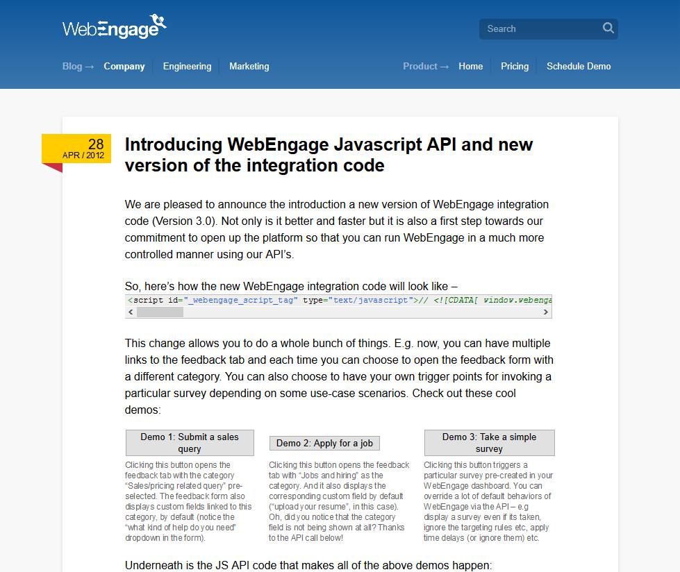 WebEngage API