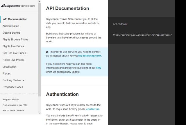 Skyscanner Live Pricing API