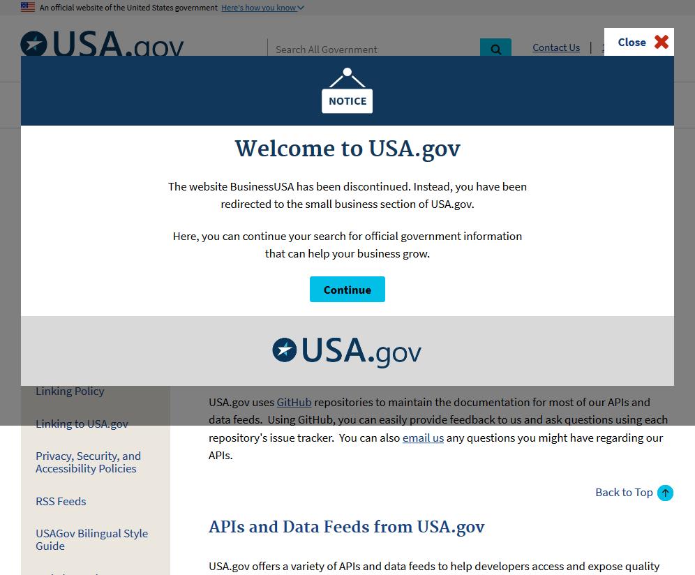 BusinessUSA Data API