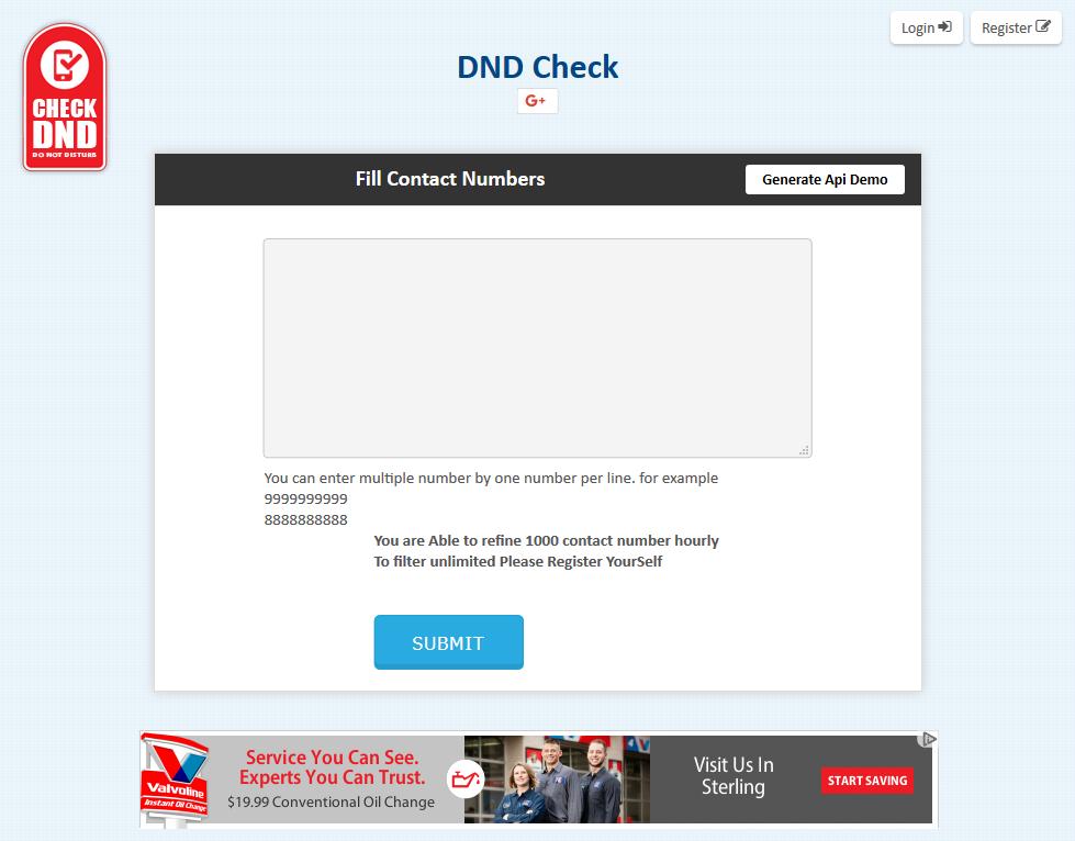 CheckDND API