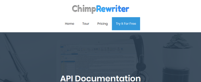 Chimp Rewriter API