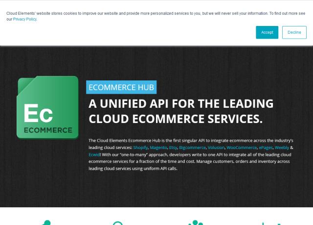Cloud Elements Ecommerce Hub API