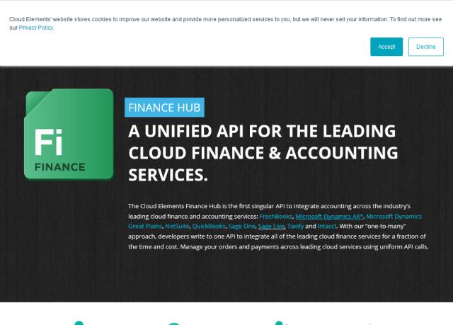 Cloud Elements Finance Hub API