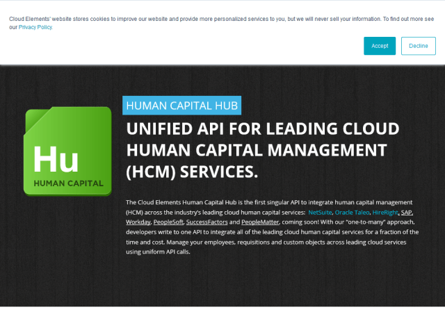 Cloud Elements Human Capital Hub API