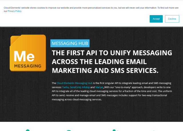 Cloud Elements Messaging Hub API