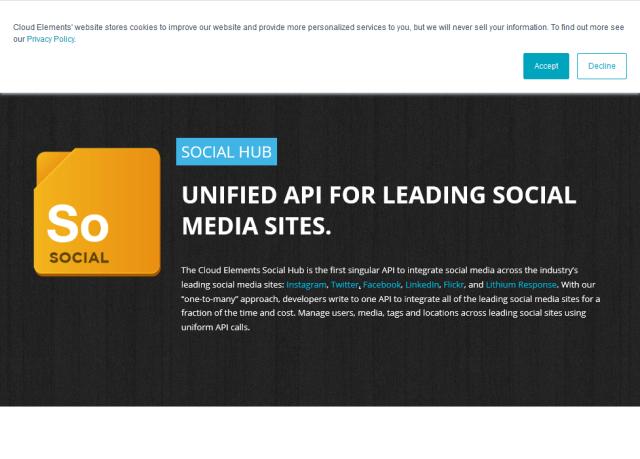 Cloud Elements Social Hub API