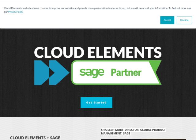 Cloud Elements Sage Accounting Hub API