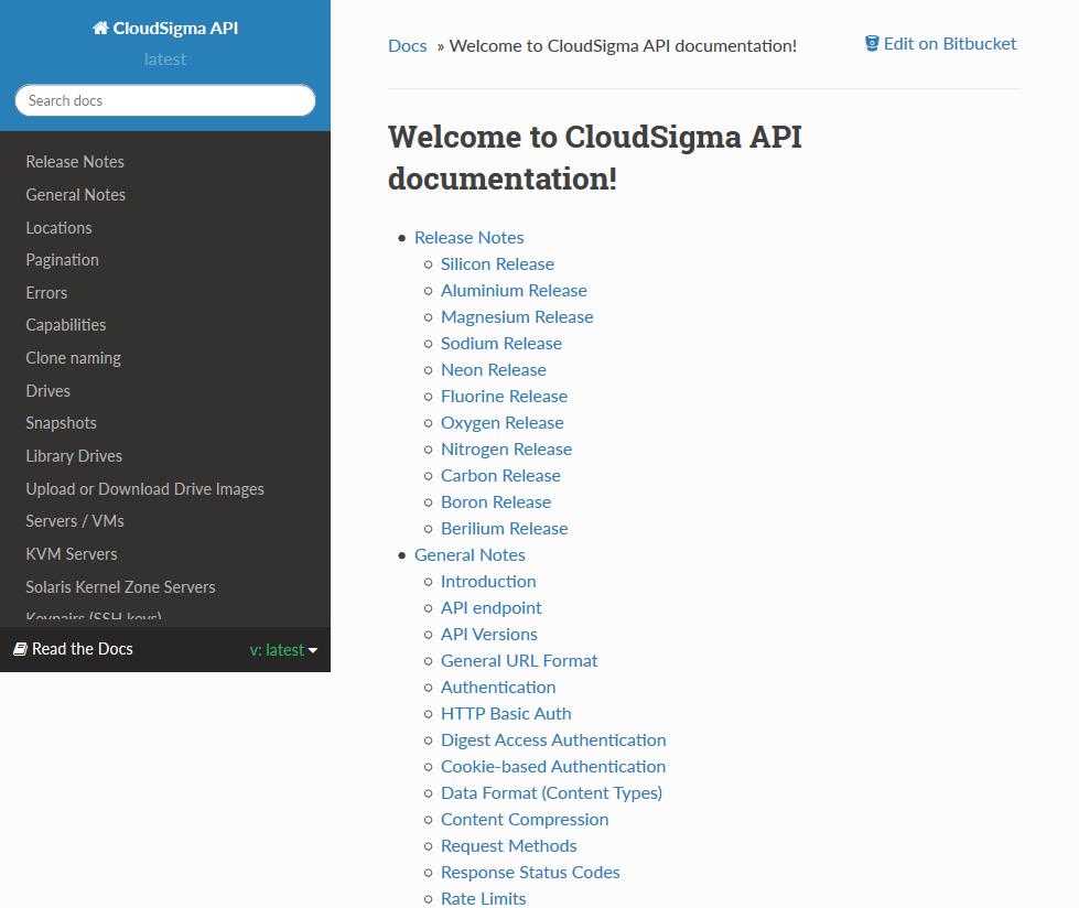 CloudSigma API
