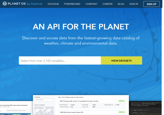 Planet Os API