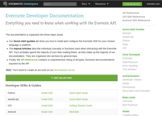 Evernote API