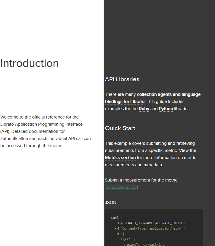 Librato Metrics API