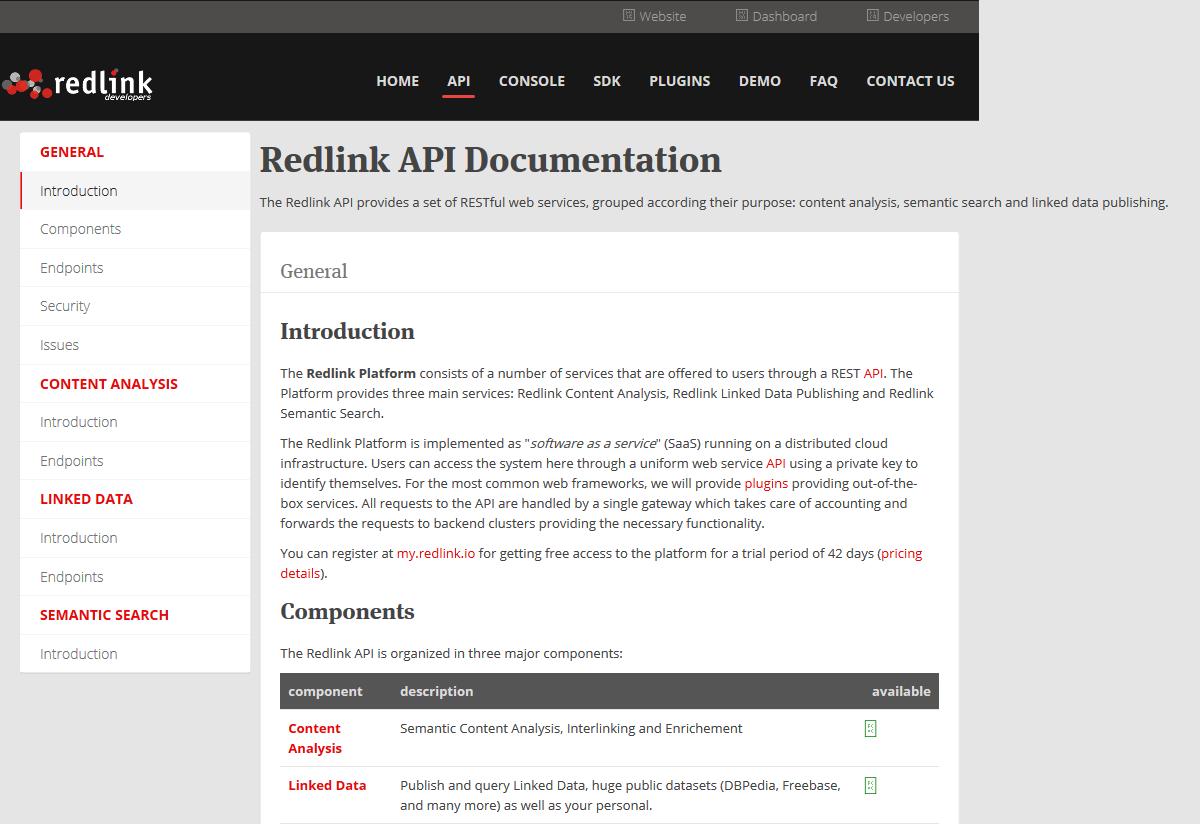 Redlink API