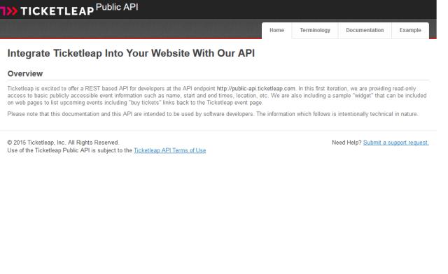 Ticketleap API