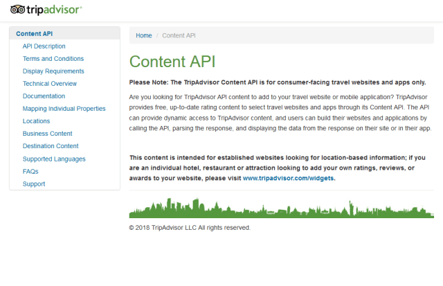 Tripadvisor Content API
