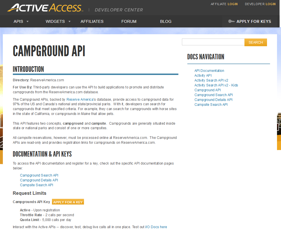 Active Campground API