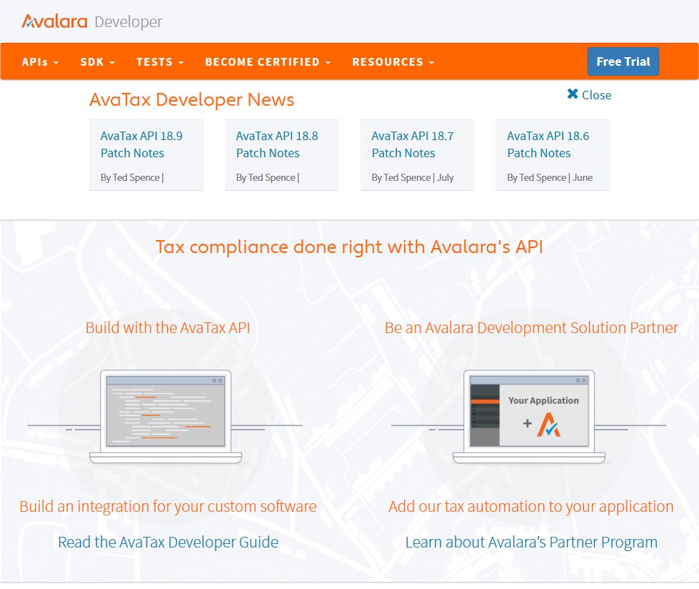 Avalara Avatax Sales Tax Api Overview Documentation