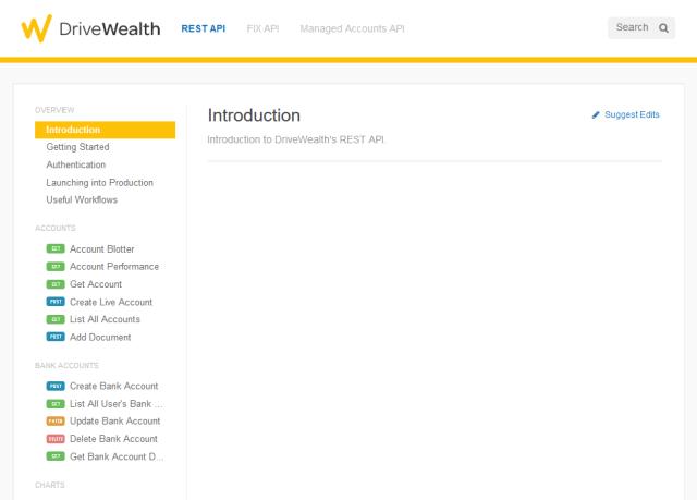Drivewealth Rest API