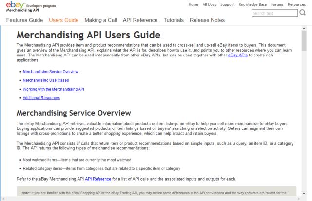Ebay Merchandising API