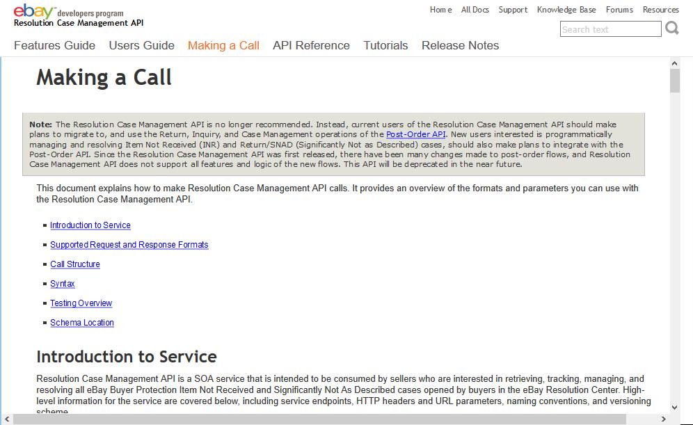 Ebay Resolution Case Management Api Overview Documentation Alternatives Rapidapi