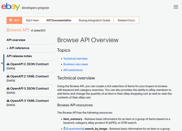 Ebay Buy Browse API