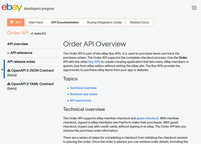 Ebay Buy Order API