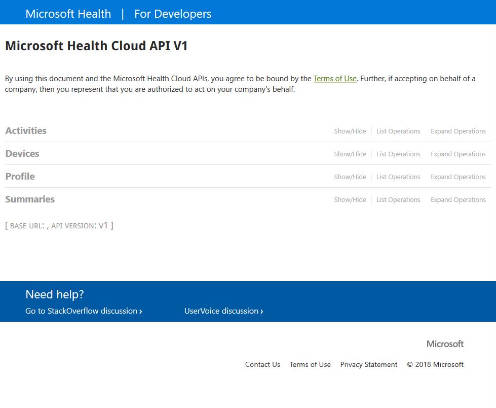 Microsoft Health Cloud API
