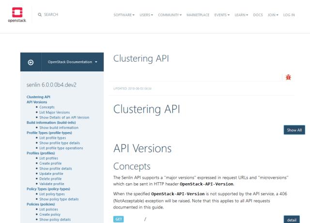 Openstack Clustering API
