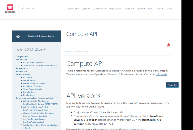 Openstack Compute API