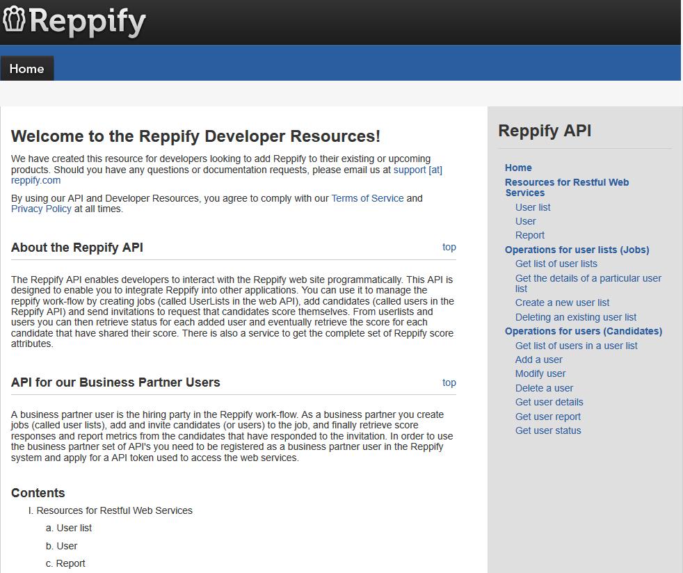 Reppify API