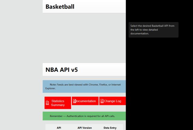 Sportradar Global Basketball API