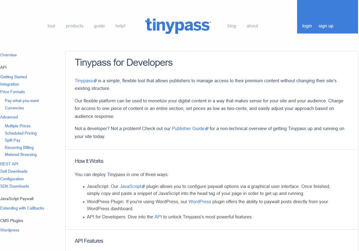 Tinypass API