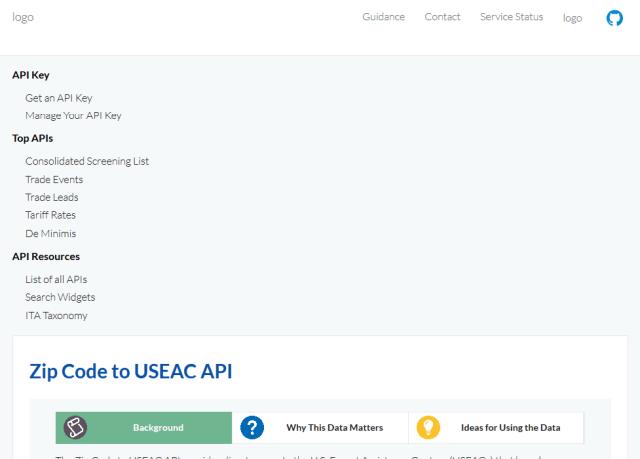 Zip Code To Useac API