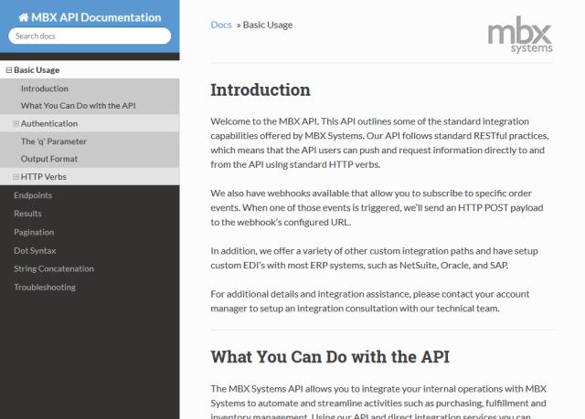 Mbx Systems API