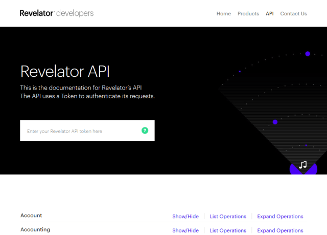 Revelator API