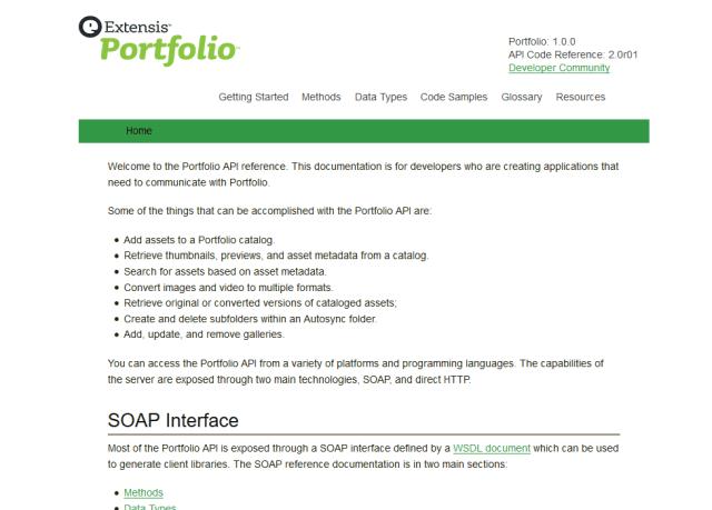 Extensis Portfolio Soap API