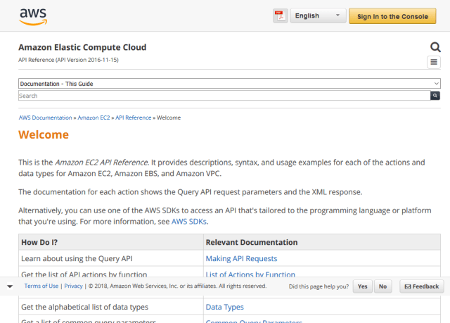 Amazon Ec2 API