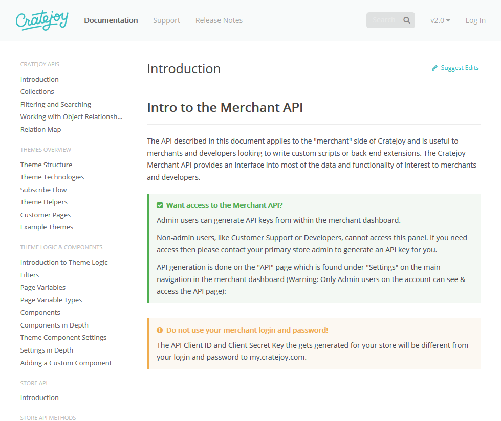 Cratejoy API