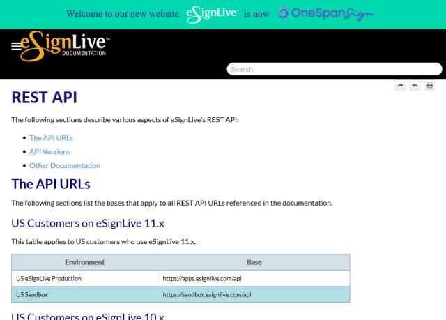Esignlive API